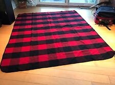 "Vintage Wool Tartan Plaid Blanket Throw Marlboro Country Store USA  58"" By 76"""