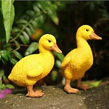 US Resin Duck figures Garden decoration,Outdoor statue,Yard decoration (a pair)