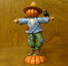 "Jim Shore Heartwood Creek #4047830 PUMPKIN HEAD SCARECROW ""...To Crow About"""