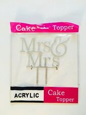Mrs and Mrs Sign, Lesbian Cake Topper Silver, Wedding Decorations, USA