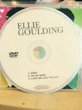 music video DVD ELLIE GOULDING  On My Mind  Army love me like yo do Delirium