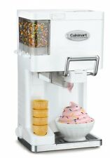 Cuisinart ICE-45 Small Soft Serve Ice Cream Yogurt Sorbet Maker 1.5 Quart White
