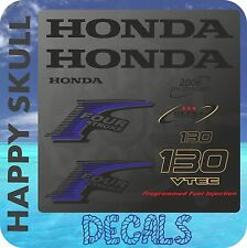 Honda 130 hp Four Stroke outboard engine decal sticker set reproduction