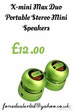 X-mini MAX Capsule Duo Portable Stereo Speaker Green Brand New Packed