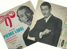 PIERRE LOUKI-LOT DE 2 EP- VINYLES MADE IN FRANCE- DISQUES VOGUE-OCASIO BON ETAT