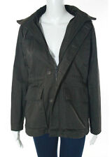 Dunderdon Olive Green Twill Hooded Parka Jacket Size Extra Small