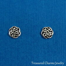 CELTIC KNOT EARRINGS - 925 Sterling Silver Post Earrings - Irish Symbol *NEW*