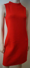 M&S Marks & Spencer COLLECTION Red Textured Fabric Sleeveless Formal Dress UK8