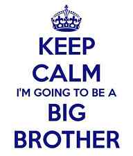 'KEEP CALM I'M GOING TO BE A BIG BROTHER' iron on t shirt transfer-FREE POSTAGE
