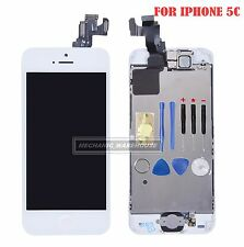 For iPhone 5C LCD Touch Screen Display Digitizer & Camera & Home Button White UK