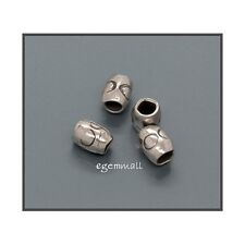 Thai Hill Tribe Silver Tube Heishi Beads 3mm 10PC 51258