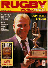 RUGBY WORLD MAGAZINE JUNE 1989 - PERFECT GIFT FOR A FAN BORN IN THIS MONTH