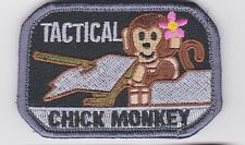 CHICK TACTICAL TRUNK MONKEY morale patch grey/black tactical VELCRO - new design