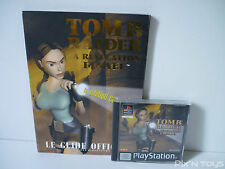 ►►►► Sony Playstation 1 Tomb Raider La Revelation Finale Jeu + Guide PAL FR