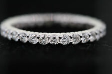 14k White Gold 1.08ct Round Diamond Eternity Band Ring (G, SI2) Size 5.75