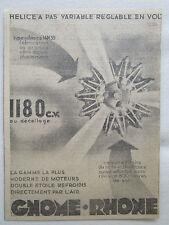 1939-1940 PUB GNOME-RHONE MOTEUR AVIATION MILITAIRE 14N 39 ORIGINAL AD