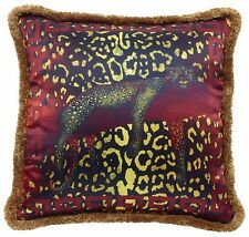 "Versace Leopard Pillow - 19.7"" - Silk"