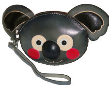 Leather Wristlet Coin/change Purse,Jewelry Holder,lovely Baby Koala face Pattern