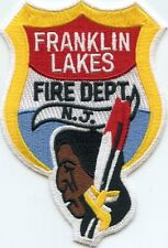 FRANKLIN LAKES NEW JERSEY NJ indian FIRE PATCH
