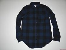New Vans Womens Moody Blues Long Sleeve Flannel Woven Shirt Top Blouse Small