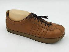 Vintage 1970s Thom McAn Down to Earth Tan Brown Leather Shoes 8 Made USA B3