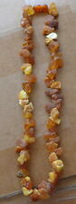 Antique Natural butterscotch  Baltic Amber Beads Necklace  # 10s