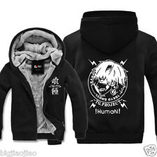 Tokyo Ghoul Kaneki Ken Head Portrait Cosplay Winter Hoodie Sweater Jacket Coat