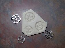 3 Differnt Shapes and Sizes Gears Steampunk Polymer Clay Push Mold DIY Jewelry