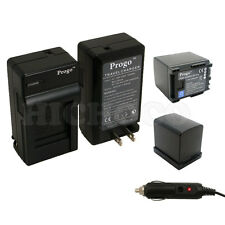 2 Battery+Charger Kit For Canon BP-819 BP-808 VIXIA HF M40 M41 M400 M30 M31