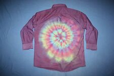 Tie Dye Dress Shirt 17-17 1/2 32/33 Mullet: business front party back Purple LS