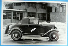 "12 By 18"" Black & White Picture 1932 Ford Cabriolet Top Up"