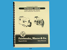 Fairbanks Morse Magneto Instruction & Parts Manual for FM-E6A & FM-E6B Mags 414