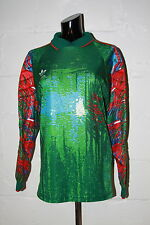 VTG Adidas Trefoil Green Blue Red Padded Goal Keeper Goalie Soccer Jersey Sz S