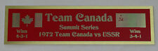 1972 Team Canada New Color Nameplate for signed hockey photo puck