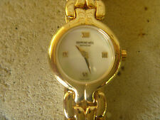 Ladies RAYMOND WEIL CHORUS Watch  18K Gold Plated     BRAND NEW    MOP Dial