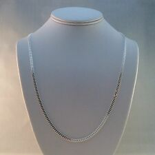 "ITALY 925 STERLING SILVER DIAMOND CUT 3mm CURB LINK 24"" CHAIN PENDANT READY"