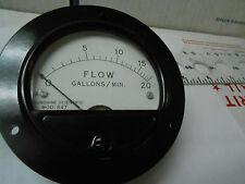 """321F TRIPLETT METER FLOW GAL/MIN /0-10 MA/0-20/3 1/2""""ROUND NEW OLD STOCK"""