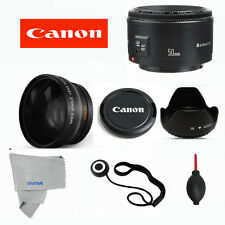 Canon EF 50 mm F/1.8 II Lens +PRO WIDE ANGLE KIT FOR CANON EOS REBEL 60D 70D T3I