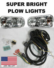 Universal Halogen Snow Plow Lights Light Kit Western Meyer Fisher Boss Curtis a