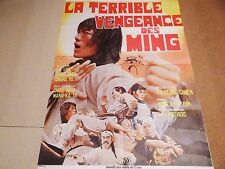 LA TERRIBLE VENGEANCE DES MING   ! affiche cinema kung-fu karate