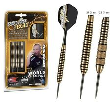 NEW Target Phil Taylor BRASS POWER BOLT Dart Board DARTS Pro Grip Shafts 24gram