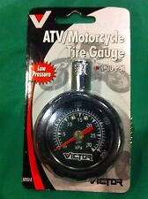 victor magnetic ATV UTV Motorcycle Low Pressure Tire Gauge Honda Yamaha polaris