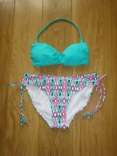 NEW - MARKS & SPENCER TURQUOISE MIX BIKINI UK SIZE 8
