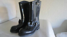 RED Valentino RED(V) Moto Bow Black Rubber Rain Boots eu 40 us10