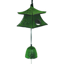 Japanese Nambu Cast Iron Green Lantern Furin Wind Chimes With Bell/Made in Japan