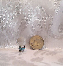DOLLHOUSE SIZE CUSTOM MADE CRYSTAL BALL #3 FOR GYPSY RHINESTONE BASE 7/8""