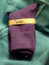 WOMENS     80%  ANGORA WOOL   VERY WARM   SOCKS  PURPLE      NEW      VERY NICE
