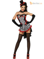 Size 8-14 Ladies Sexy Burlesque Madame Costume Womens 1920s Showgirl Fancy Dress