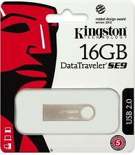 Kingston 16GB DataTraveler SE9 16G USB 2.0 Flash Pen Drive DTSE9H/16GB Retail