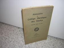 1935.annuaire collège bardique gaules.envoi autographe de Jacques heugel